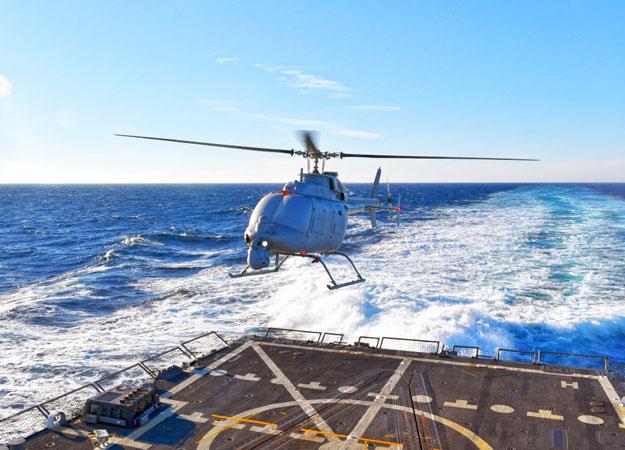 ВМС США тестирует большие и мощные беспилотники Fire Scout